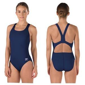 Speedo Endurance+ Solid Navy Super Pro Swimsuit 18